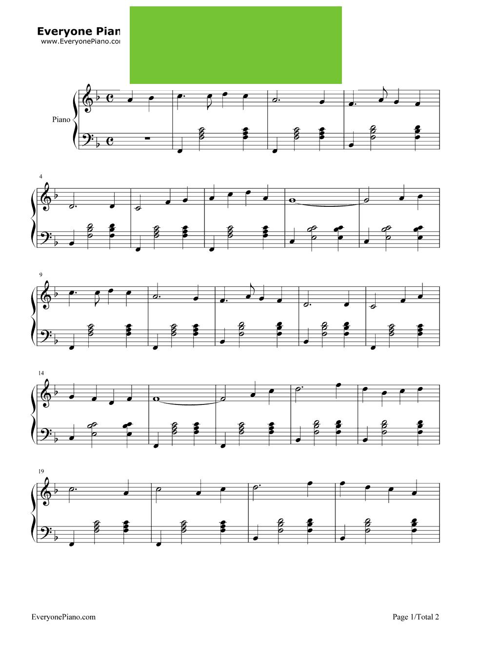老伴钢琴曲谱-钢琴谱蝴蝶