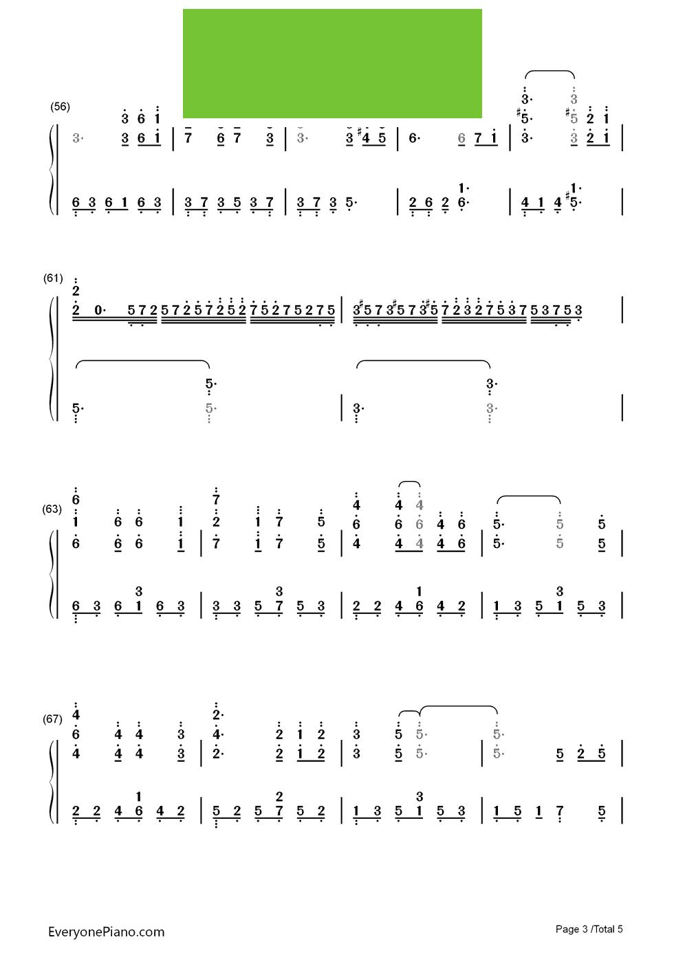 当你老了歌谱 - 幼儿园简谱歌谱大全 - 为了我歌谱