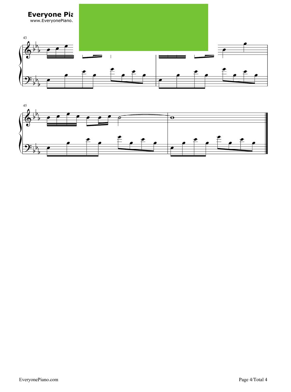 伦演唱) - 钢琴谱图片