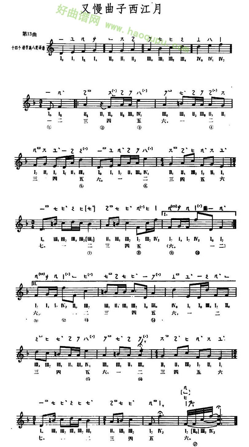 新年好 琵琶乐谱-琵琶 花好月圆