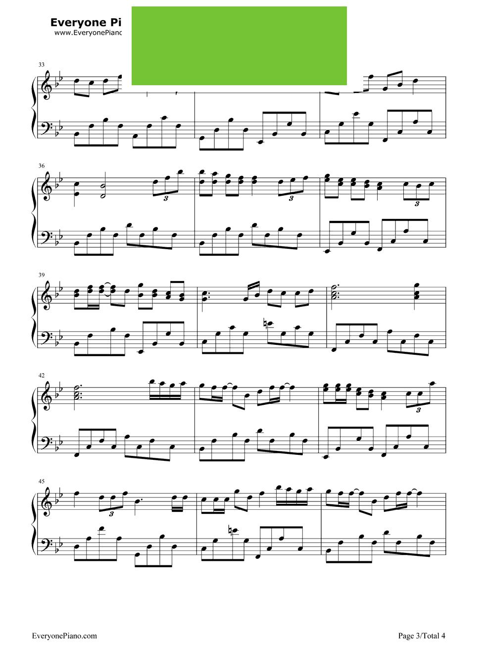 钢琴曲眼泪吉他谱