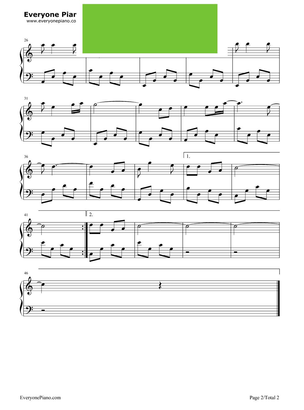 疯狂动物城主题曲五线谱