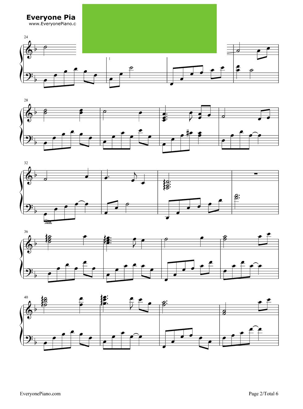 钢琴谱第2张