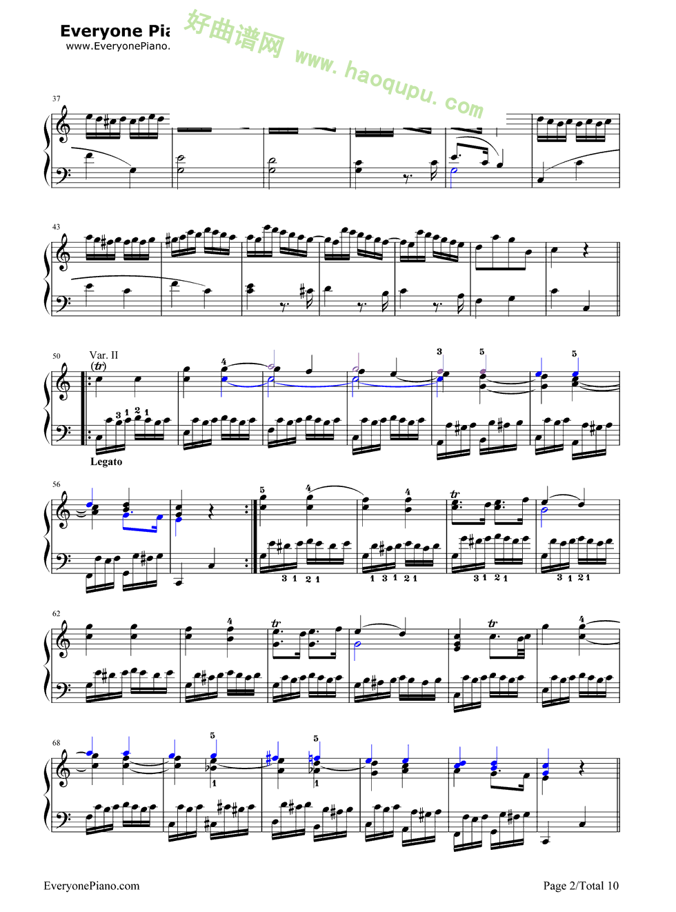 《小星星变奏曲》(莫扎特)图片
