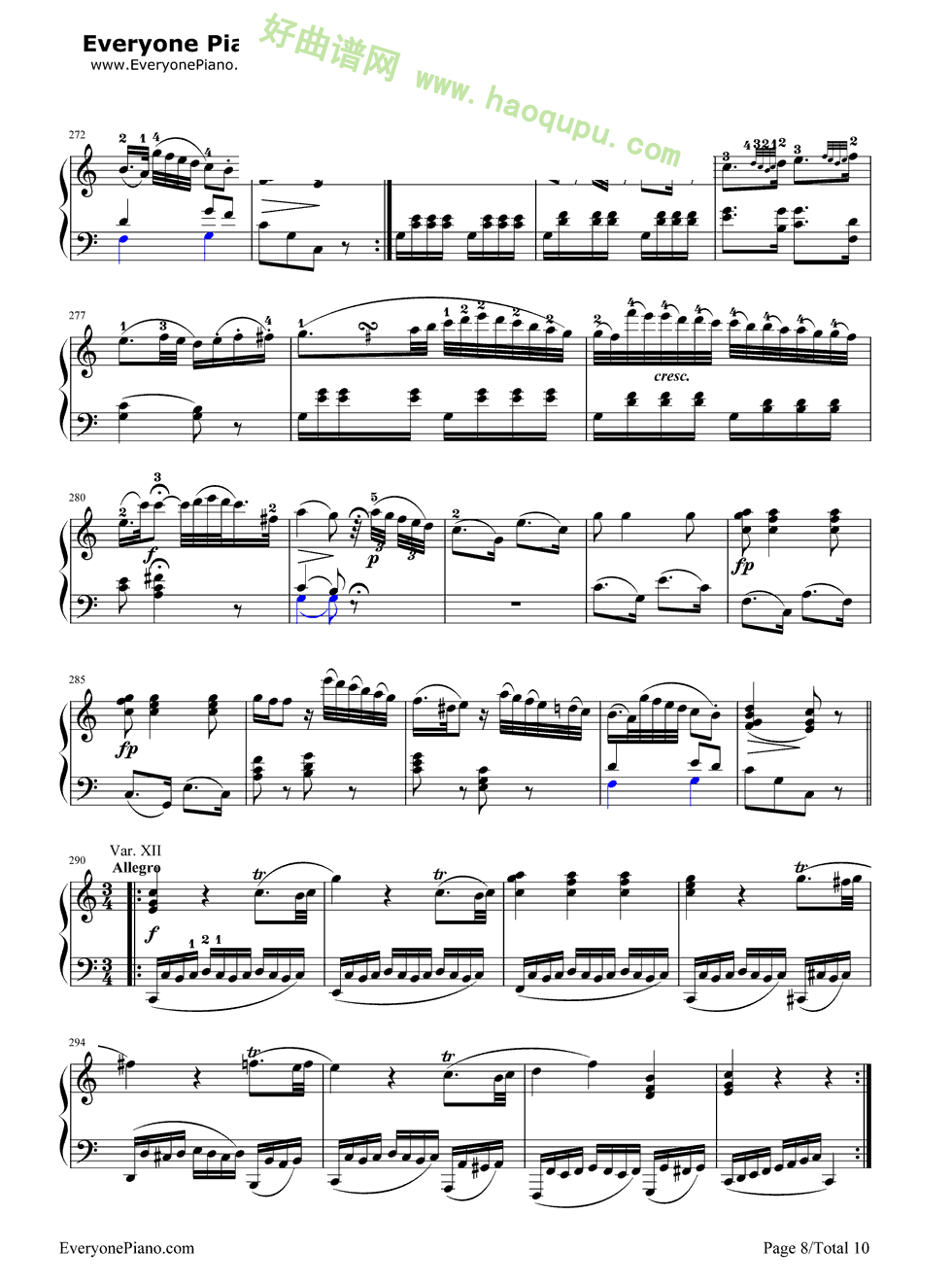 《小星星变奏曲》(莫扎特)