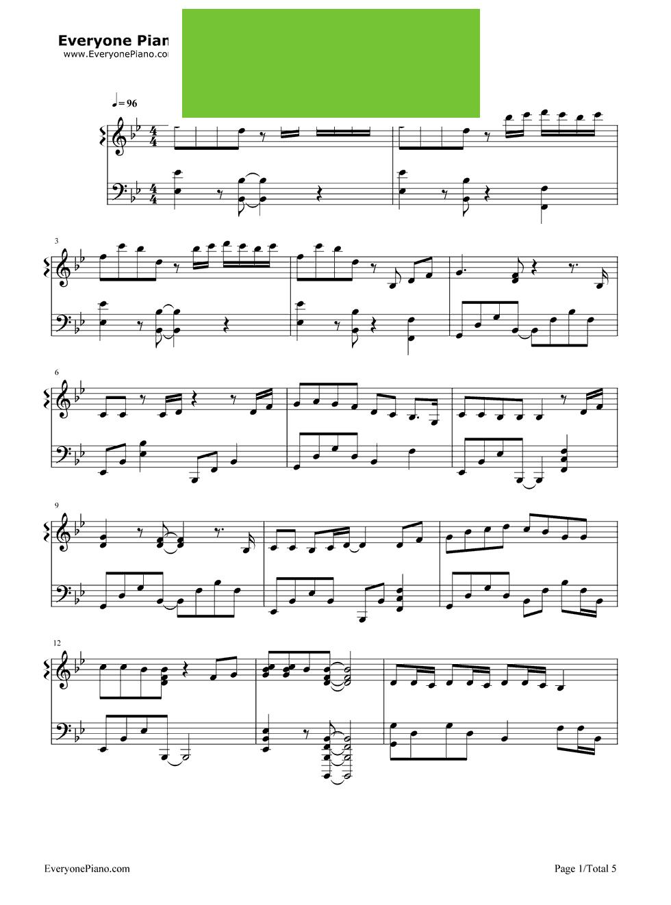 See You Again 速度与激情7主题曲 钢琴谱