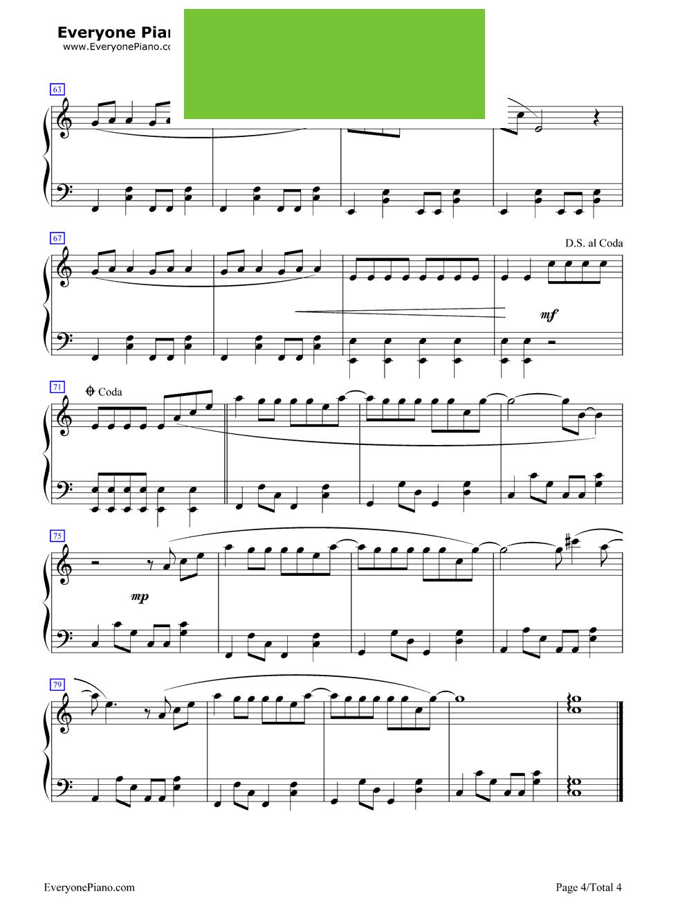 《李白》(李荣浩演唱) - 钢琴谱_钢琴曲谱_钢琴歌谱