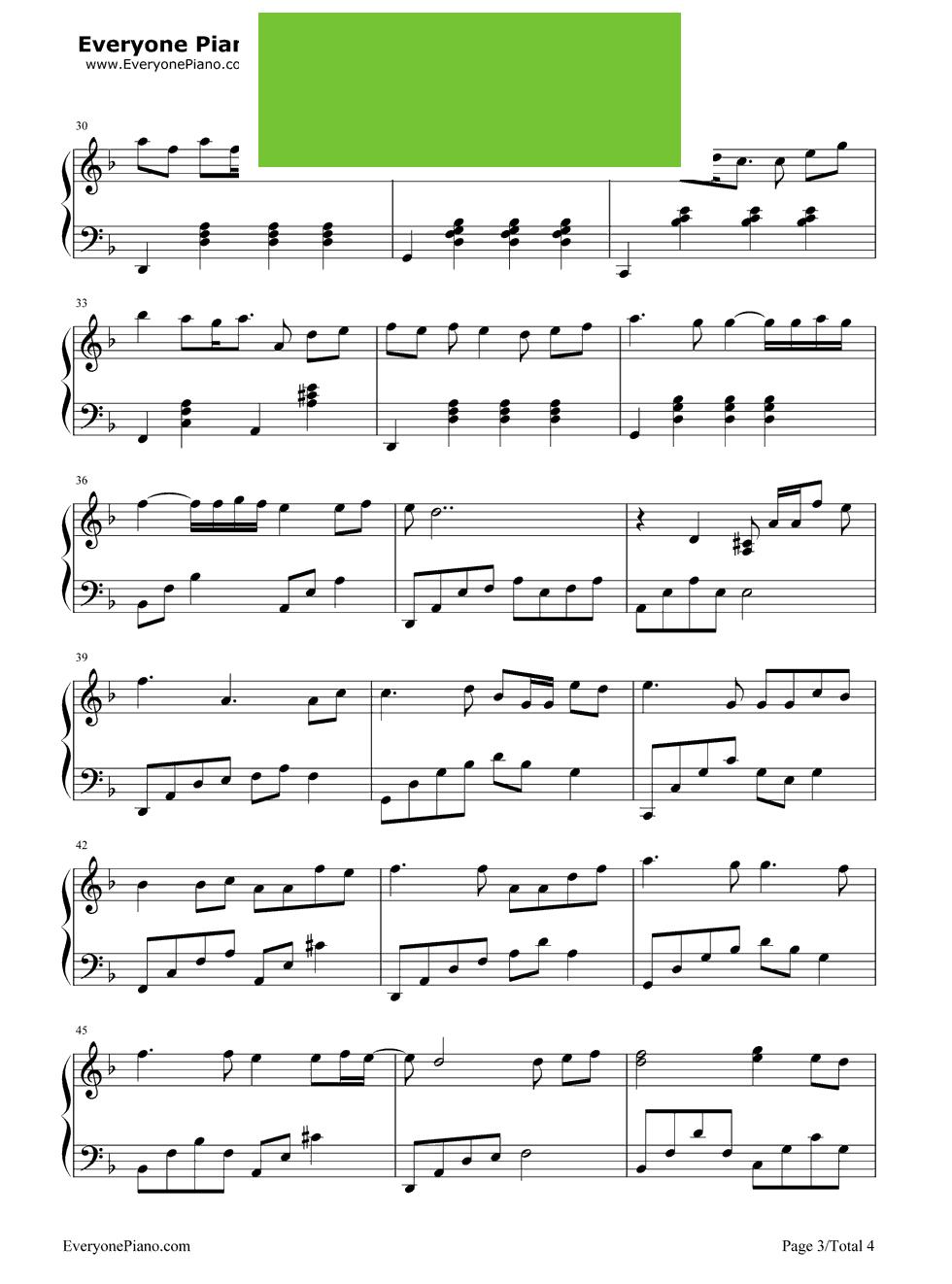 月半小夜曲 李克勤演唱 钢琴谱
