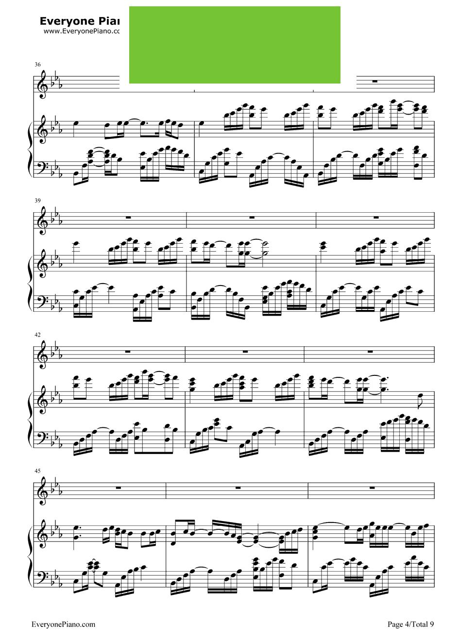 《一半一半》(洛天依演唱) - 钢琴谱_钢琴曲谱_钢琴