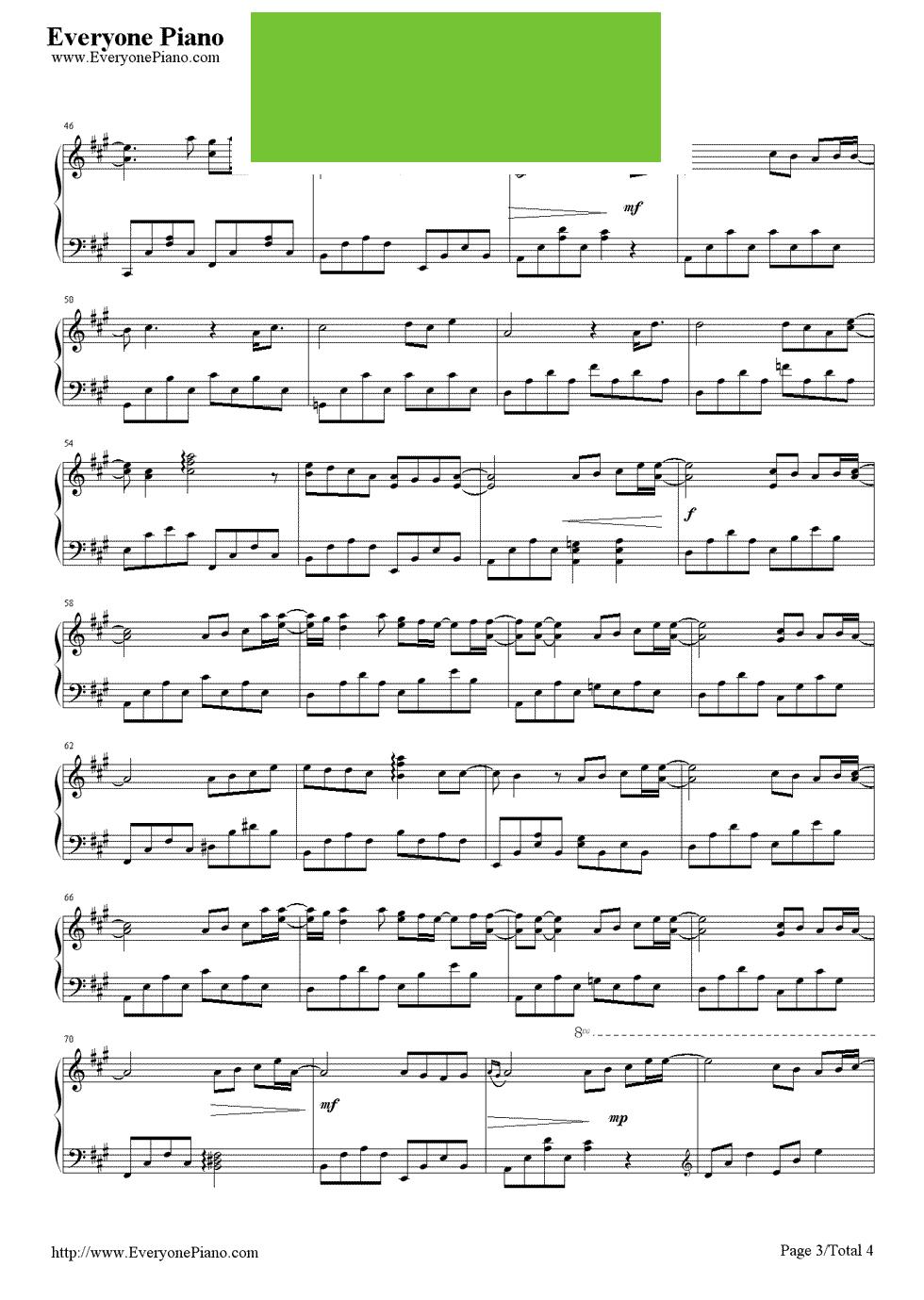 海之波钢琴曲谱子-求花海的钢琴谱,还要有指法和伴奏