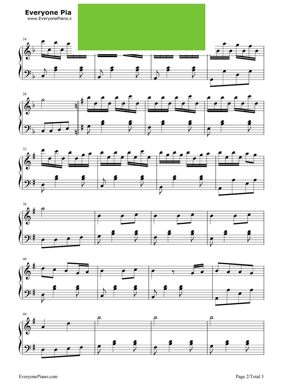 《早操》(周杰伦演唱《不能说的秘密》插曲)钢琴谱第2张