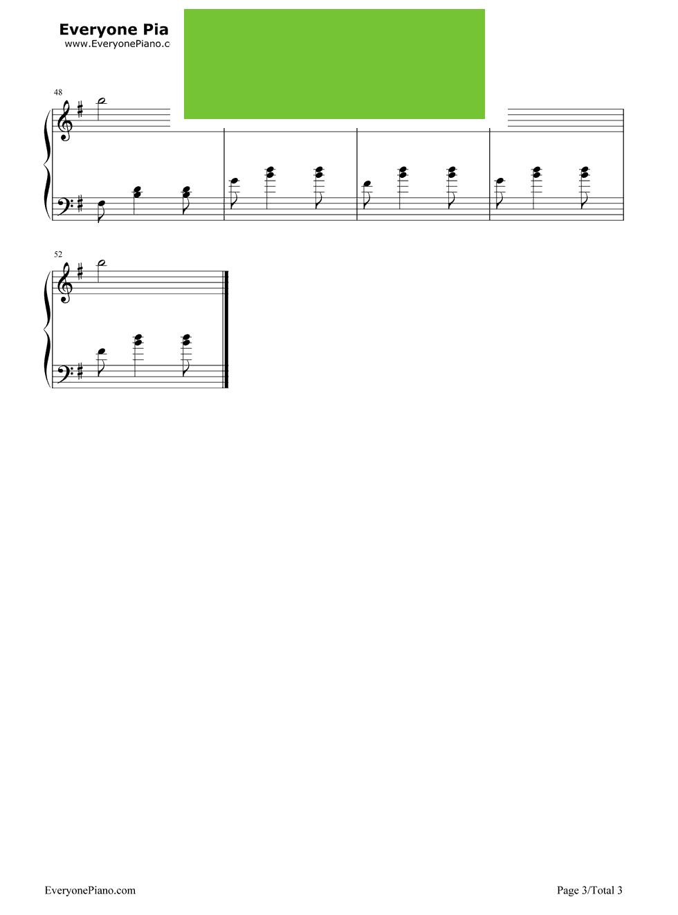 《早操》(周杰伦演唱《不能说的秘密》插曲)钢琴谱第3张