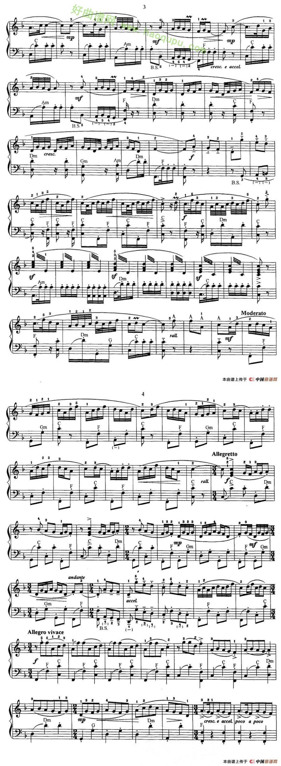 《夜深沉》(京剧曲牌) - 手风琴曲谱_手风琴简谱_歌谱
