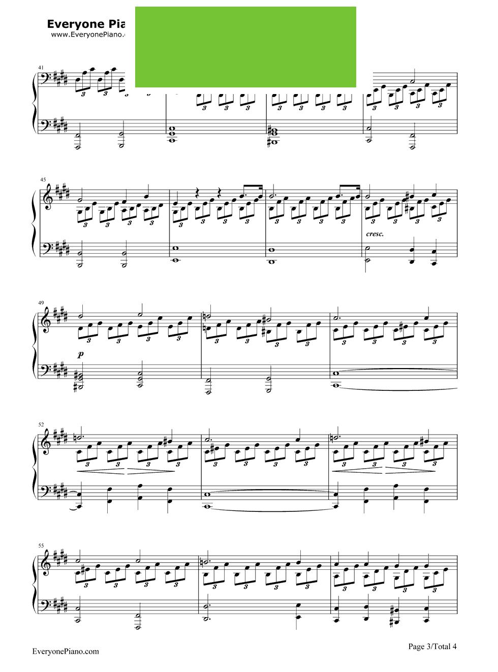 法国号钢琴谱子- 一 五线谱 圆号 钢琴