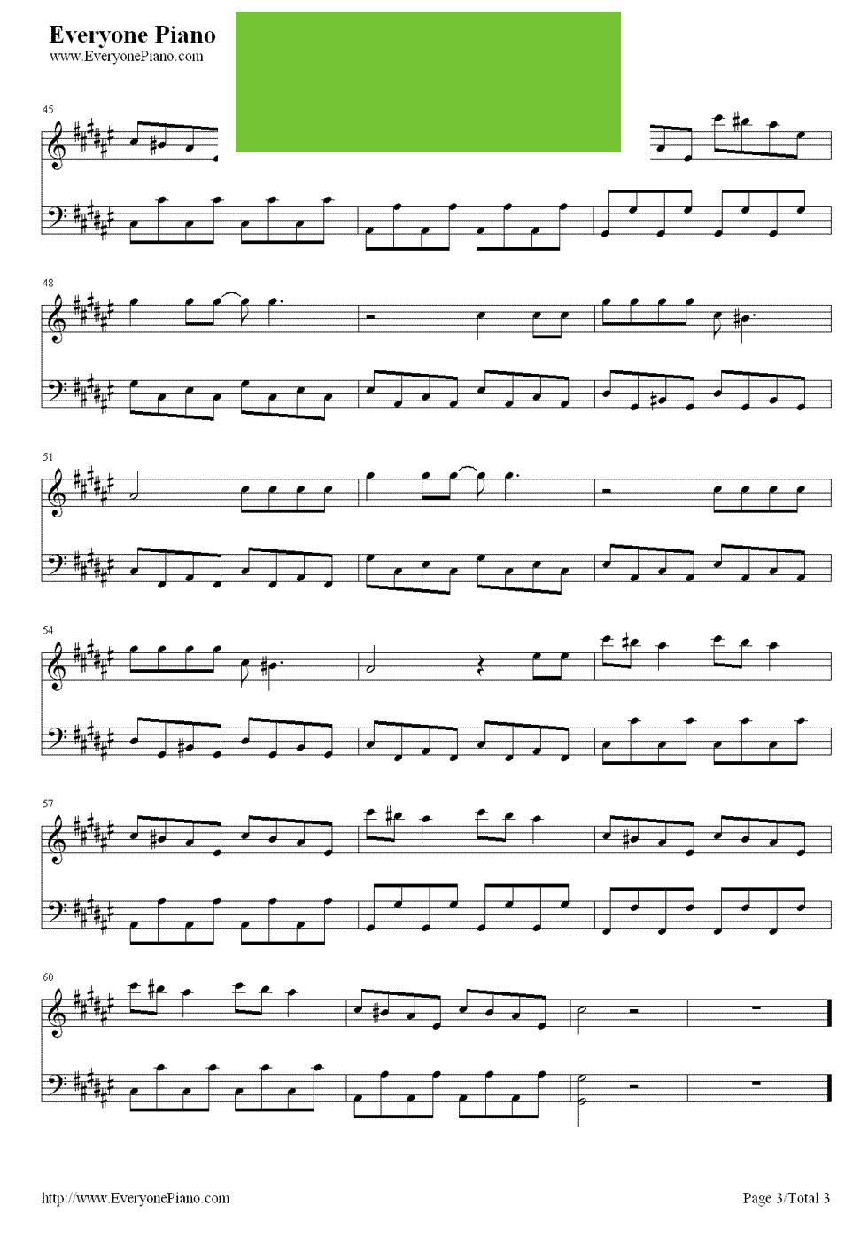 神奇的do re mi钢琴简谱谱子