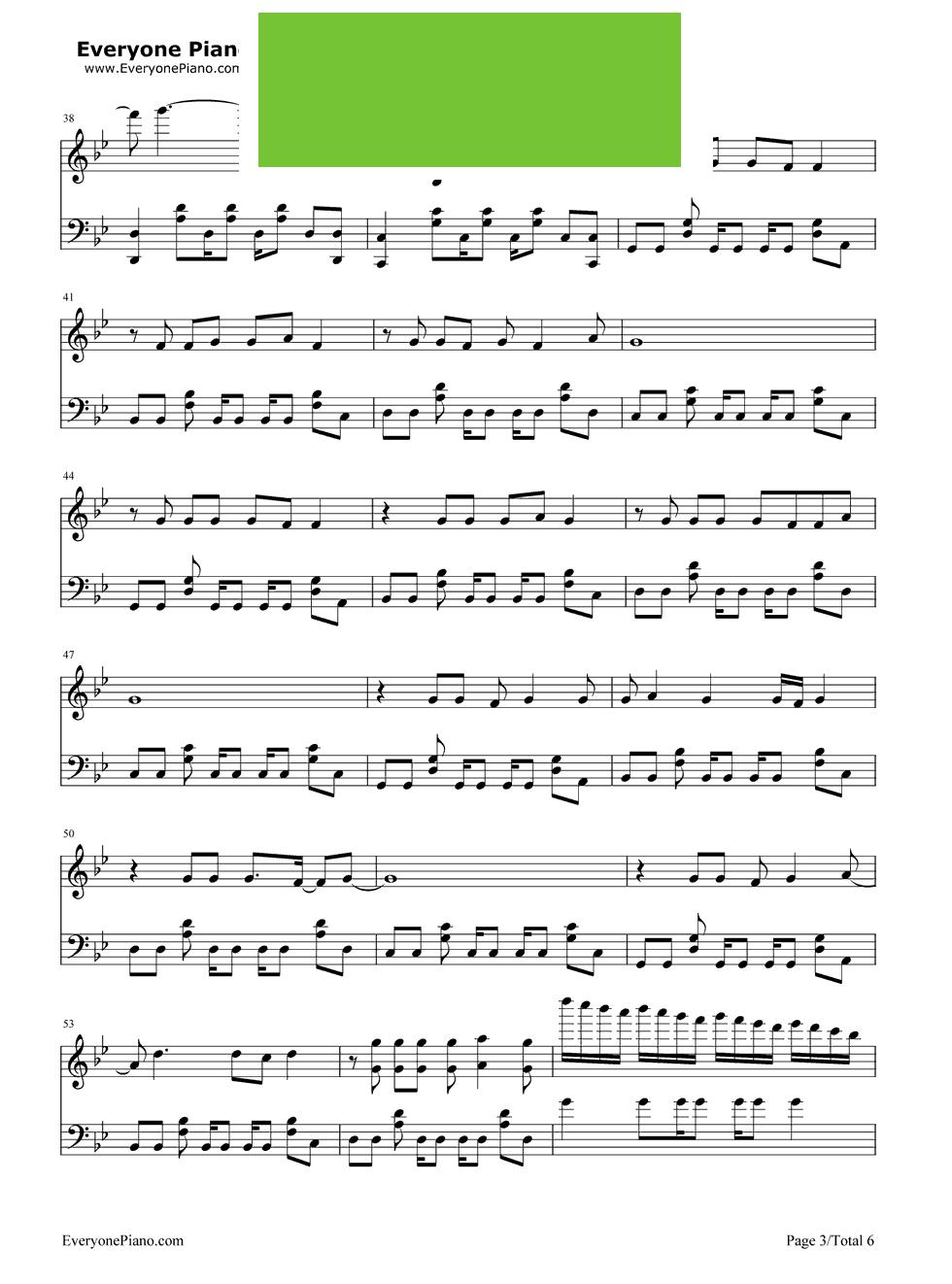 Love Me Again John Newman演唱 钢琴谱