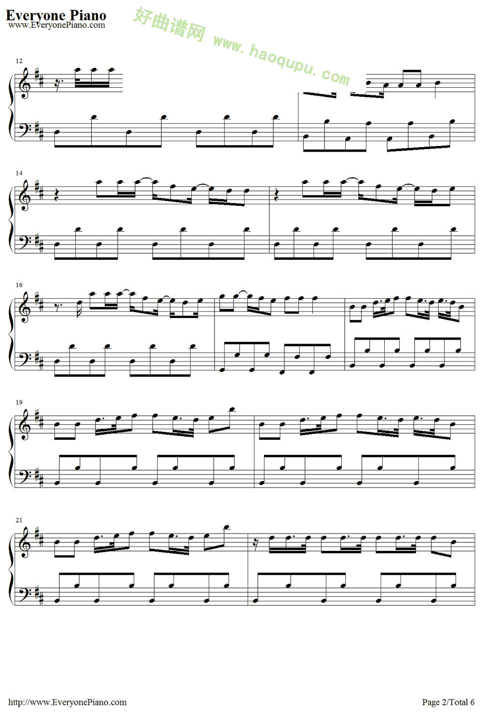 莫扎特魔笛钢琴曲曲谱
