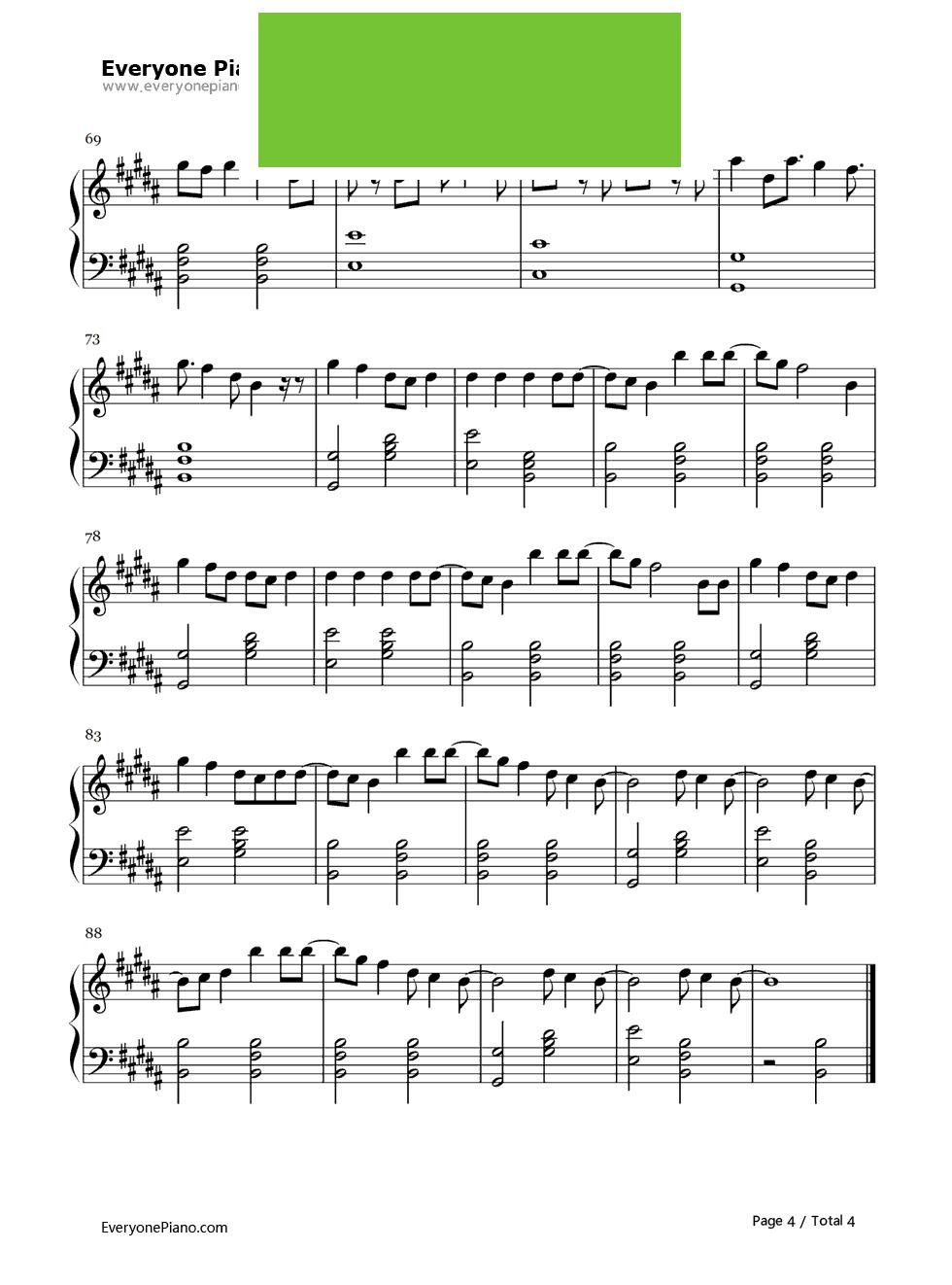 样young钢琴谱