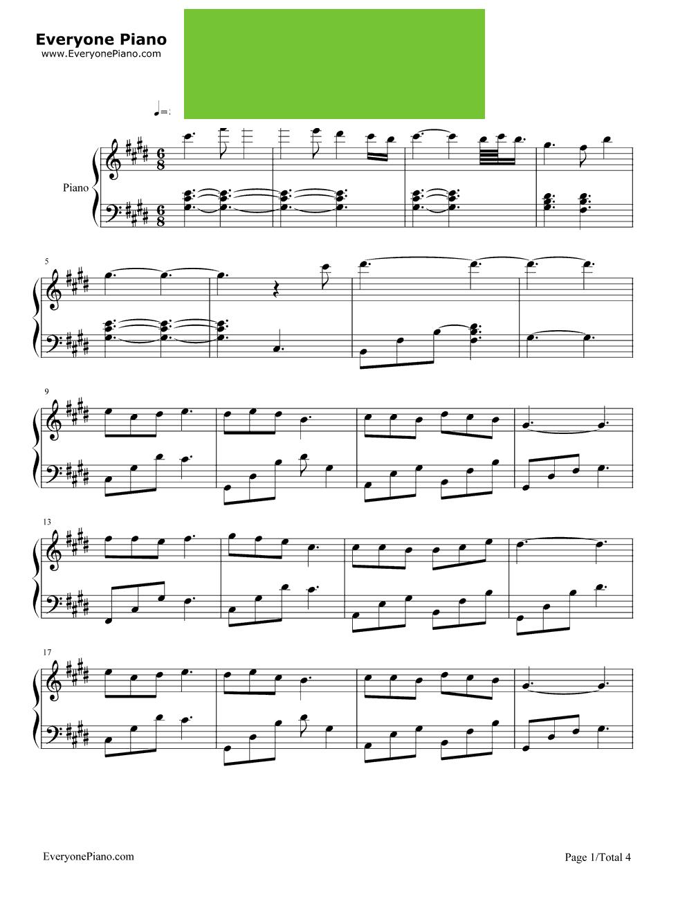让一切随风谱子-fade乐谱简谱用数字