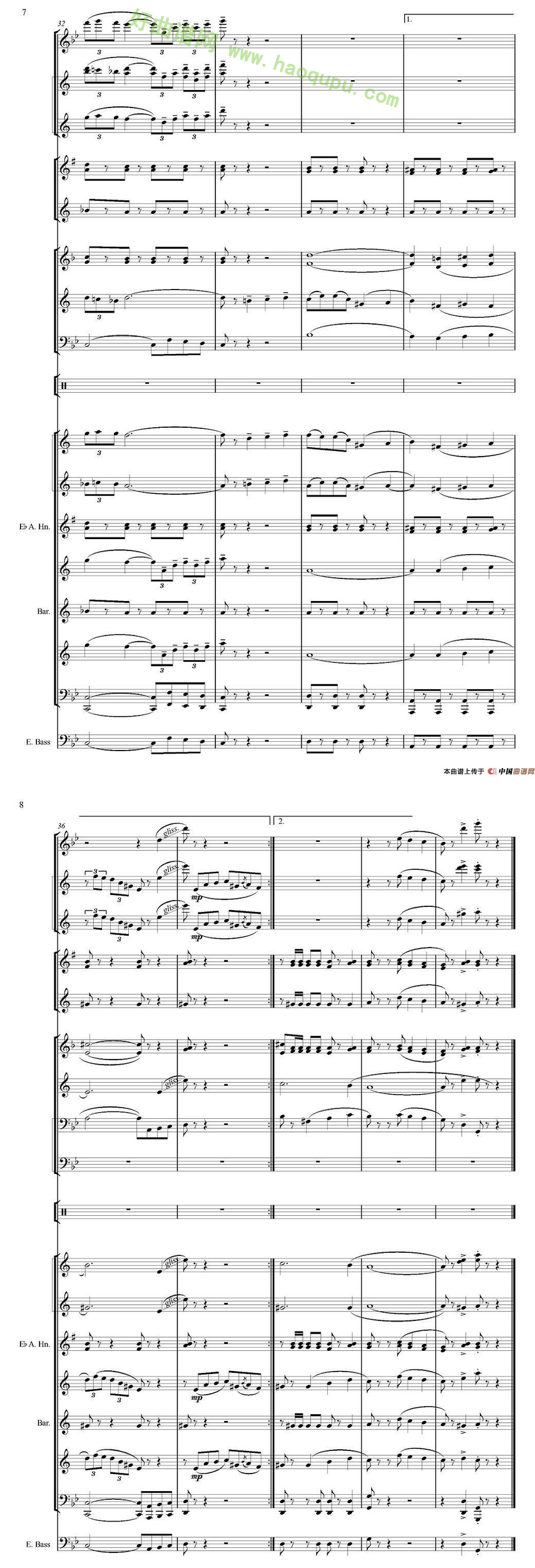 手风琴曲谱 >