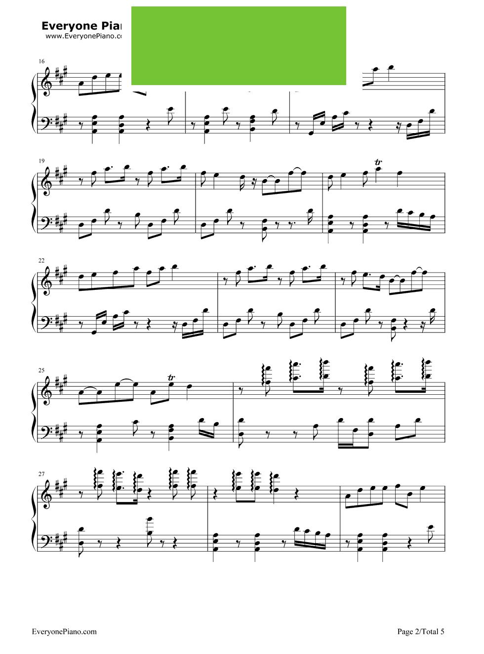 花千骨千古钢琴简谱