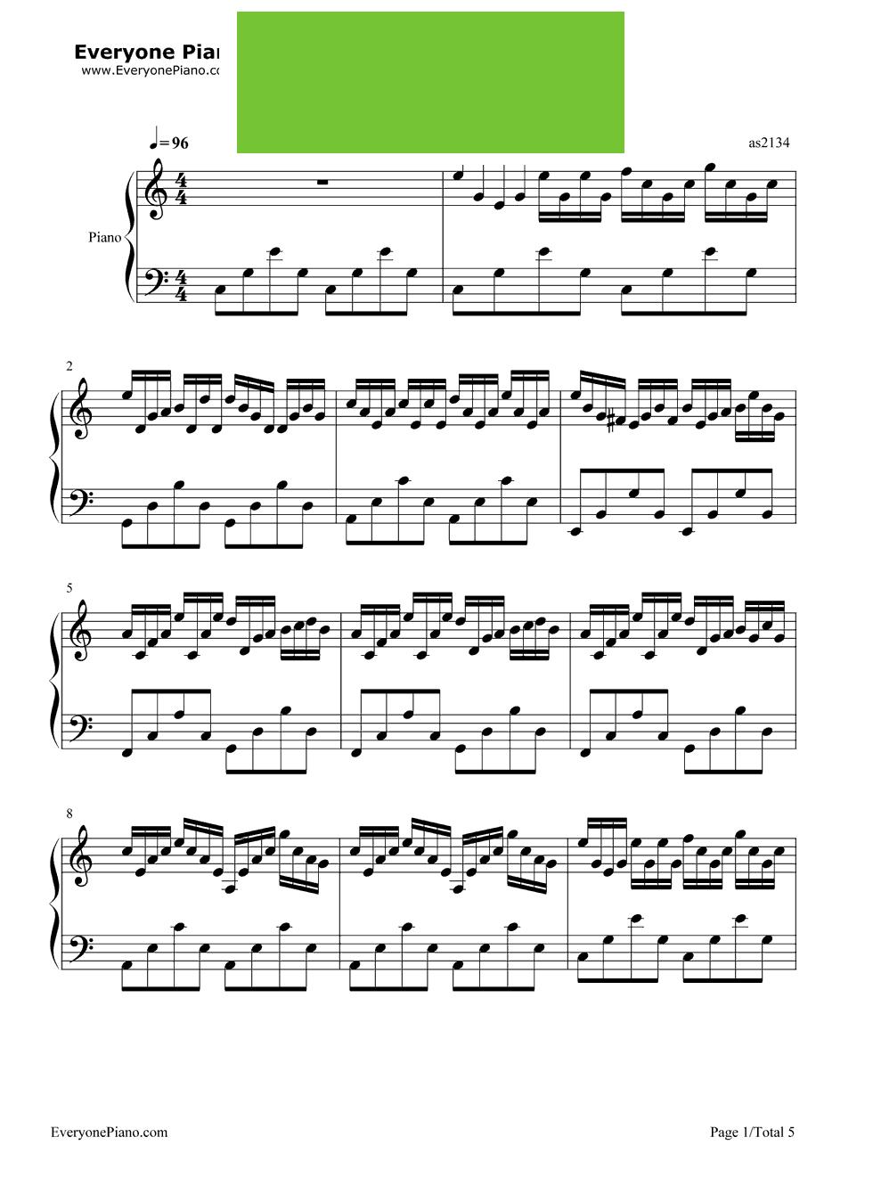 《虫儿飞》(郑伊健演唱《风云雄霸天下》插曲)钢琴谱