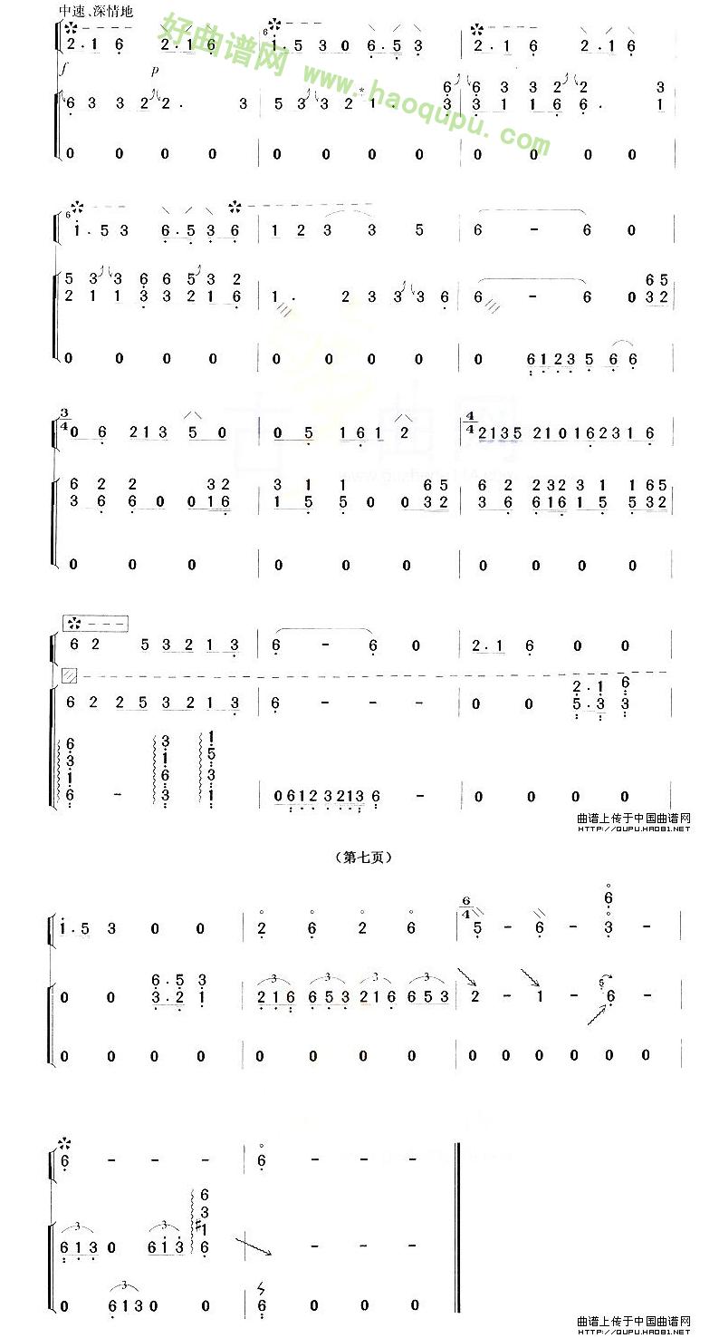 《建昌月》(琵琶+古筝)琵琶曲谱第3张