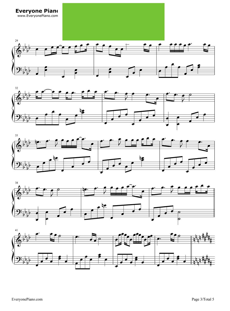 钢琴简谱 最初的梦想 拜厄
