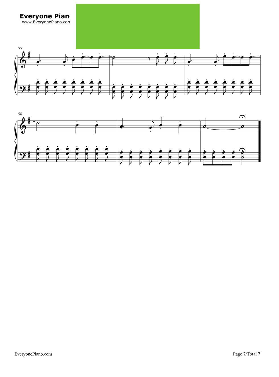 奔跑钢琴数字简谱
