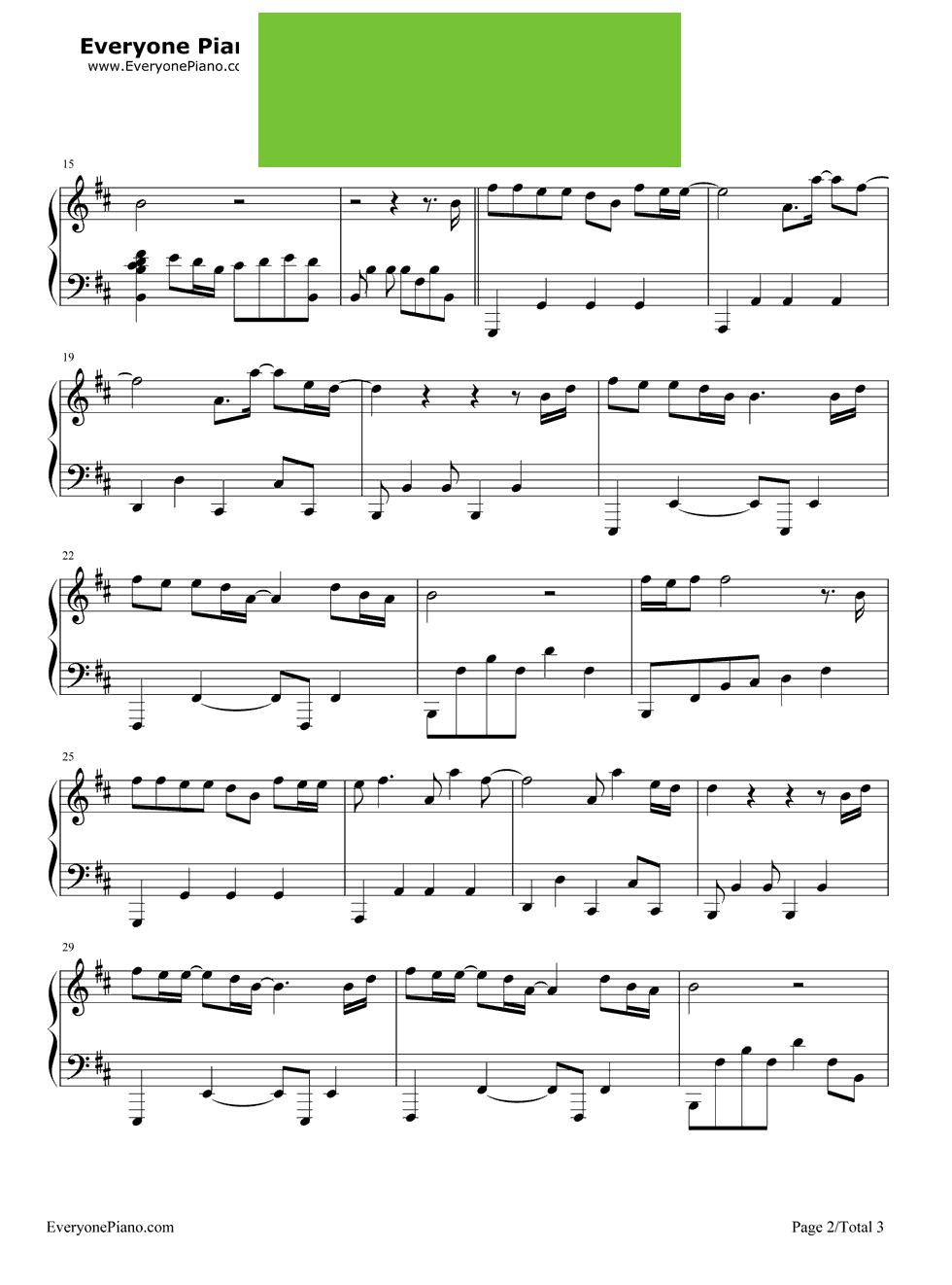 默 周杰伦 那英演唱 钢琴谱