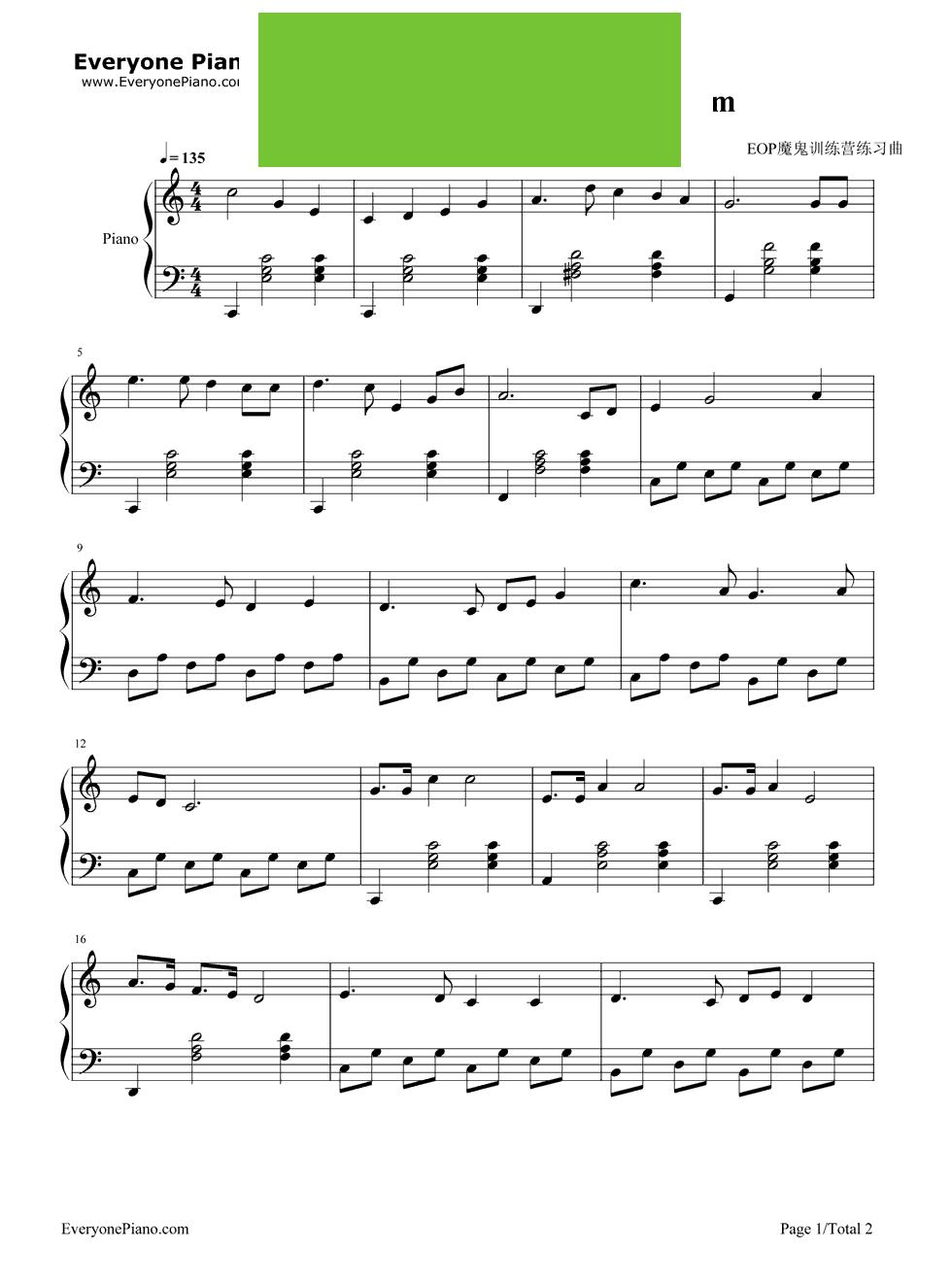 文爱钢琴曲谱子-钢琴谱 五线谱 正文