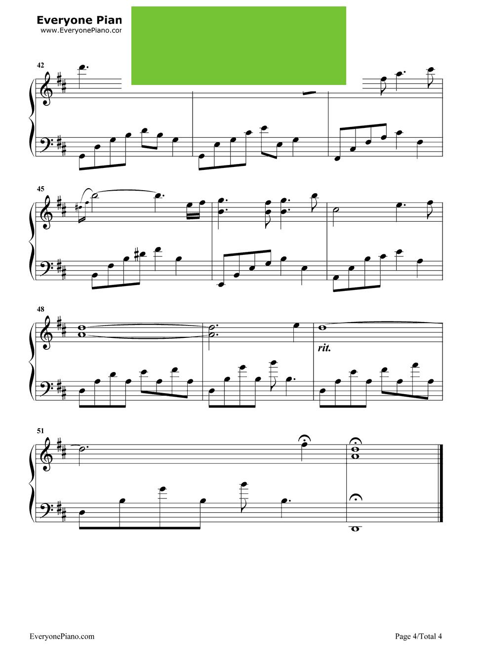 《一个人的时光》(石进演奏)钢琴谱