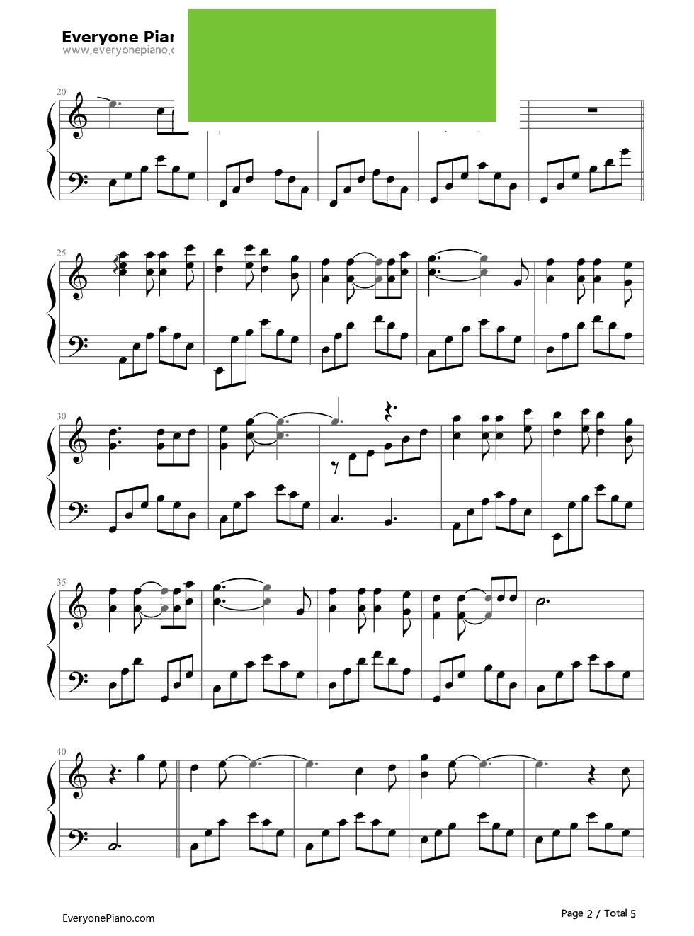 王者荣耀bgm钢琴简谱