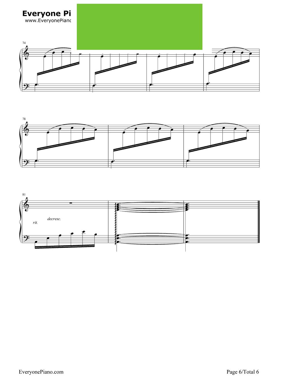 你好可爱钢琴简谱