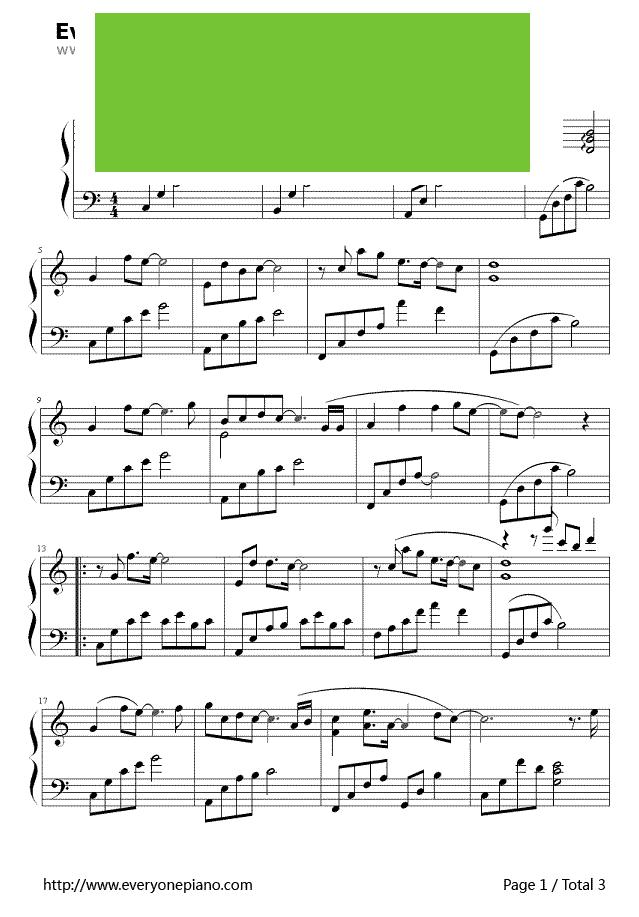 好久不见钢琴谱