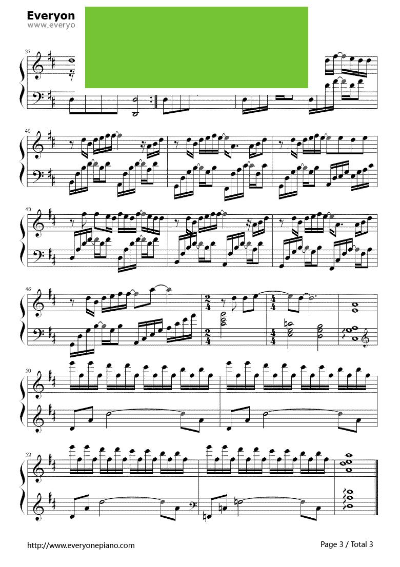 小情歌前奏钢琴简谱