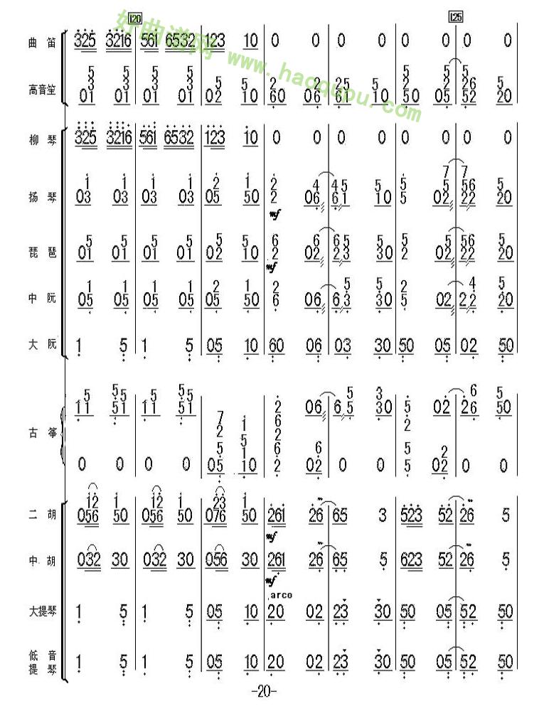 《太湖美总谱》(20)管乐总谱