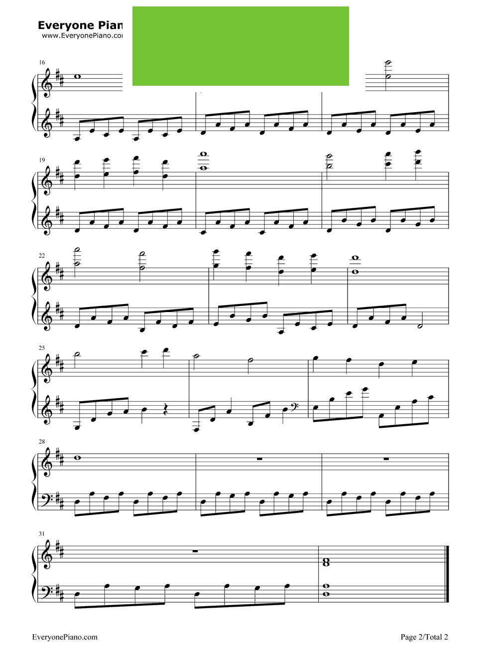 《Ride With Me》(《不能说的秘密》插曲) 钢琴谱第2张