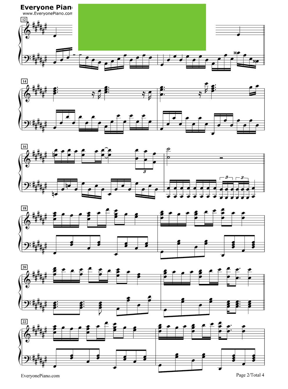 大梦想家 TFBOYS演唱 钢琴谱