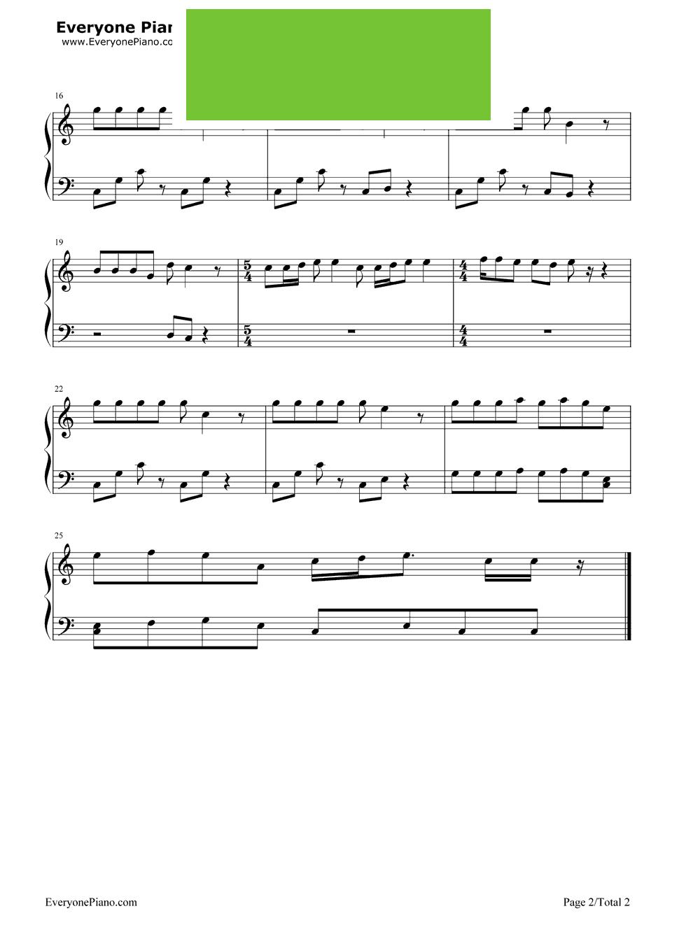 初雪 钢琴谱