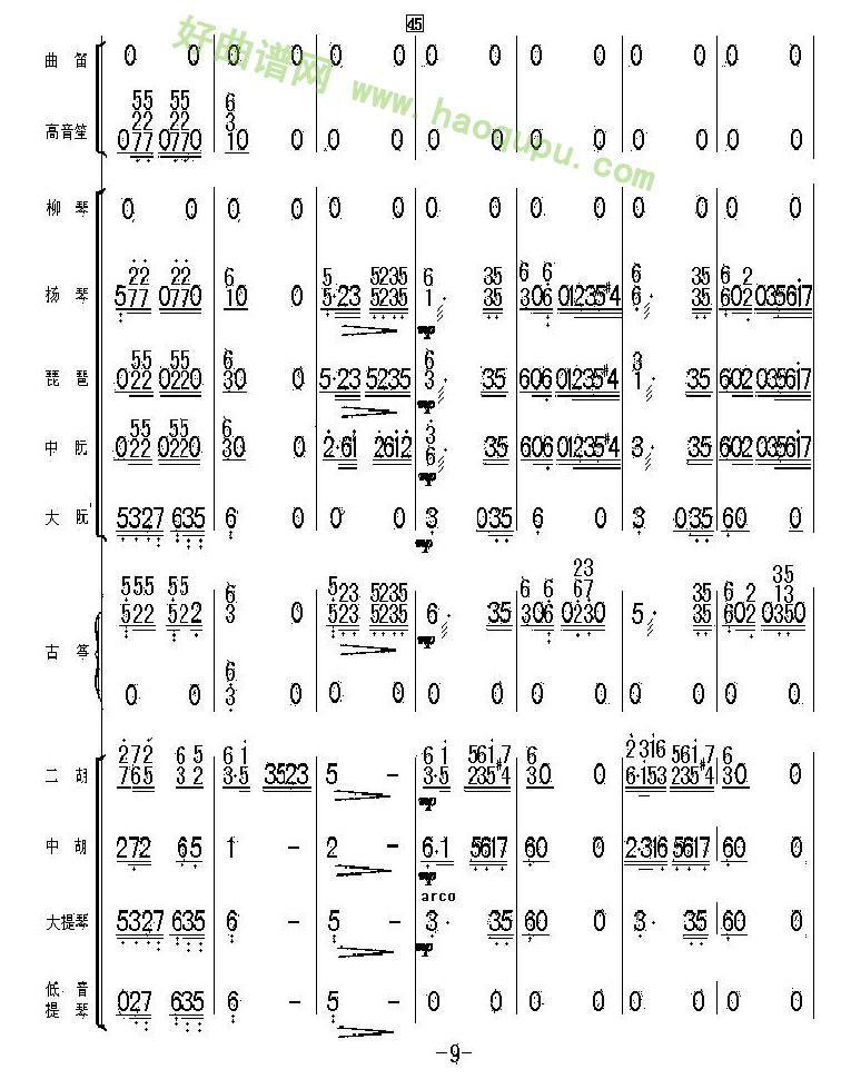 《太湖美总谱》(9) 管乐总谱