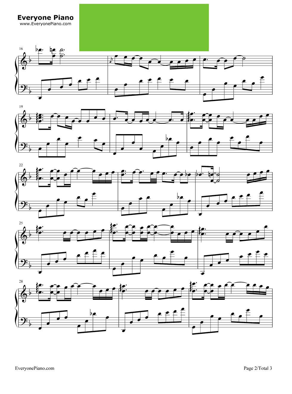 泡沫前奏钢琴简谱