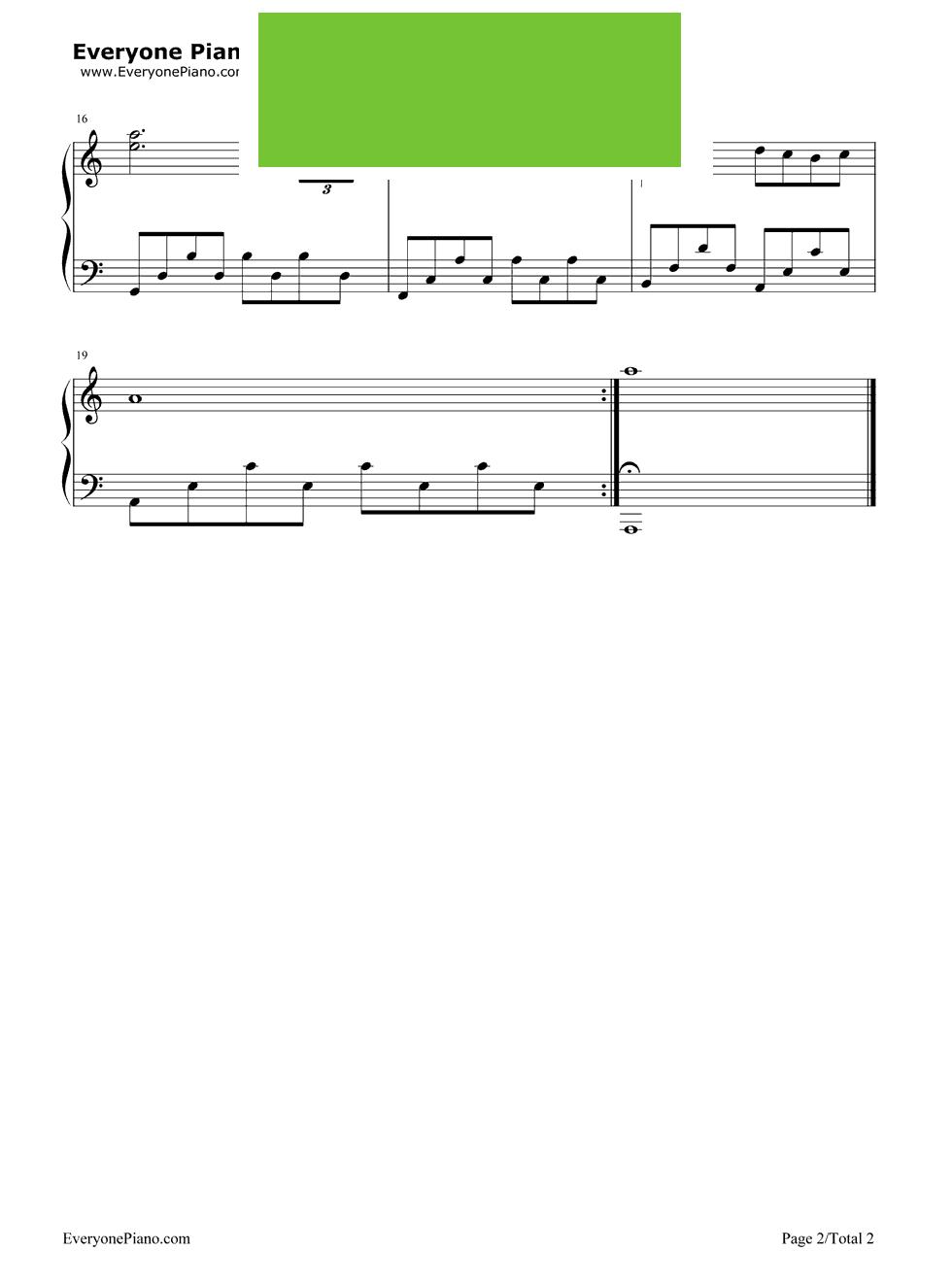 《伤逝》(EOP教学曲)钢琴谱第2张