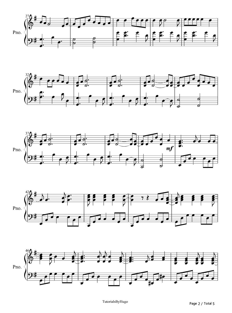 always-Christmas Lights Coldplay演唱 钢琴谱