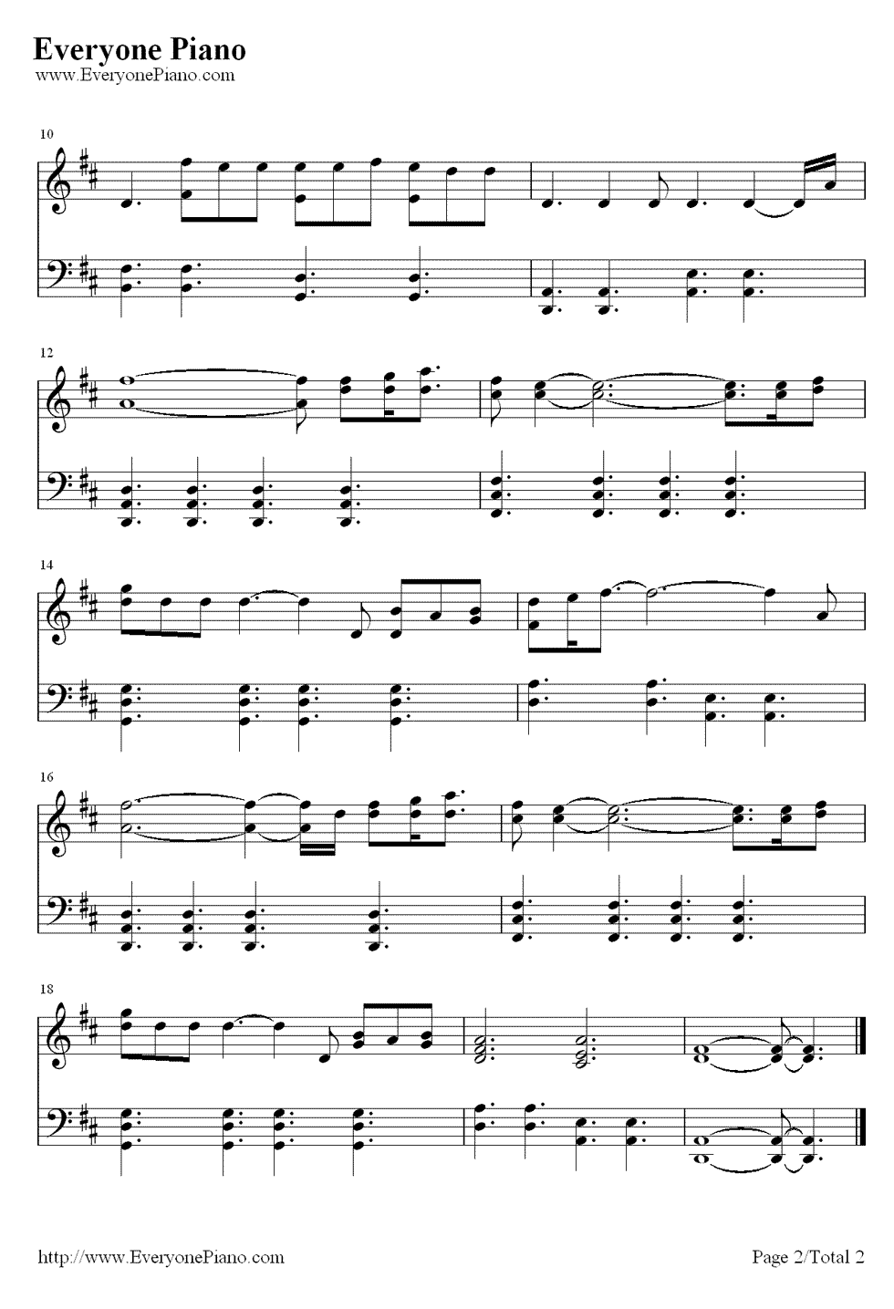 Piano sheet music for say something