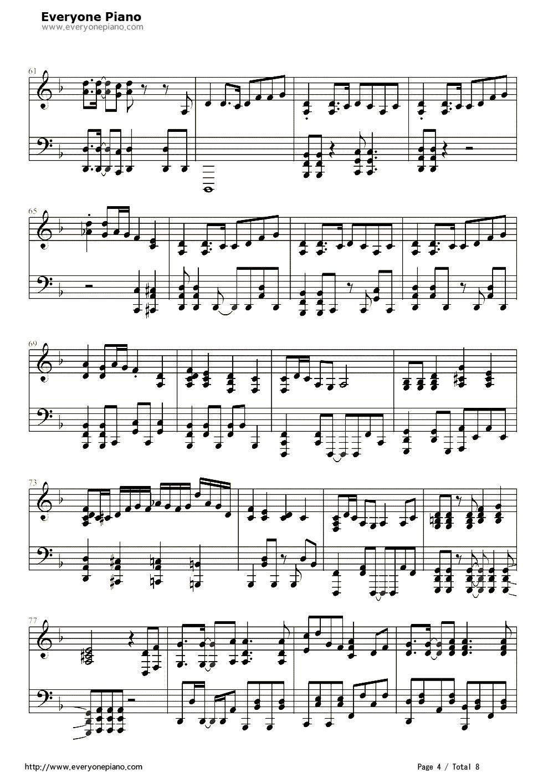 【千本樱钢琴谱】千本樱钢琴简谱4 歌谱网图片