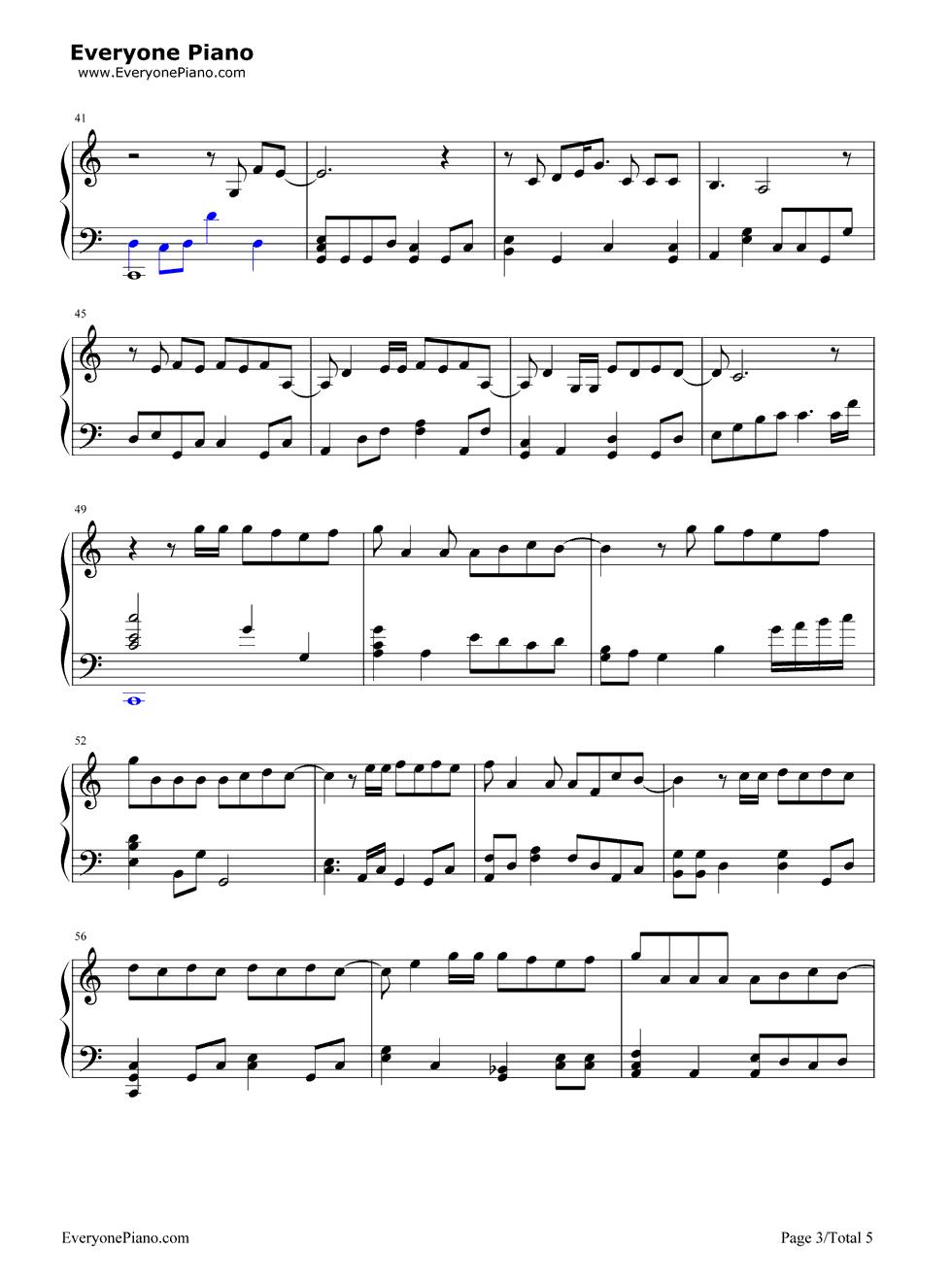 《演员》(薛之谦演唱) 钢琴谱第3张