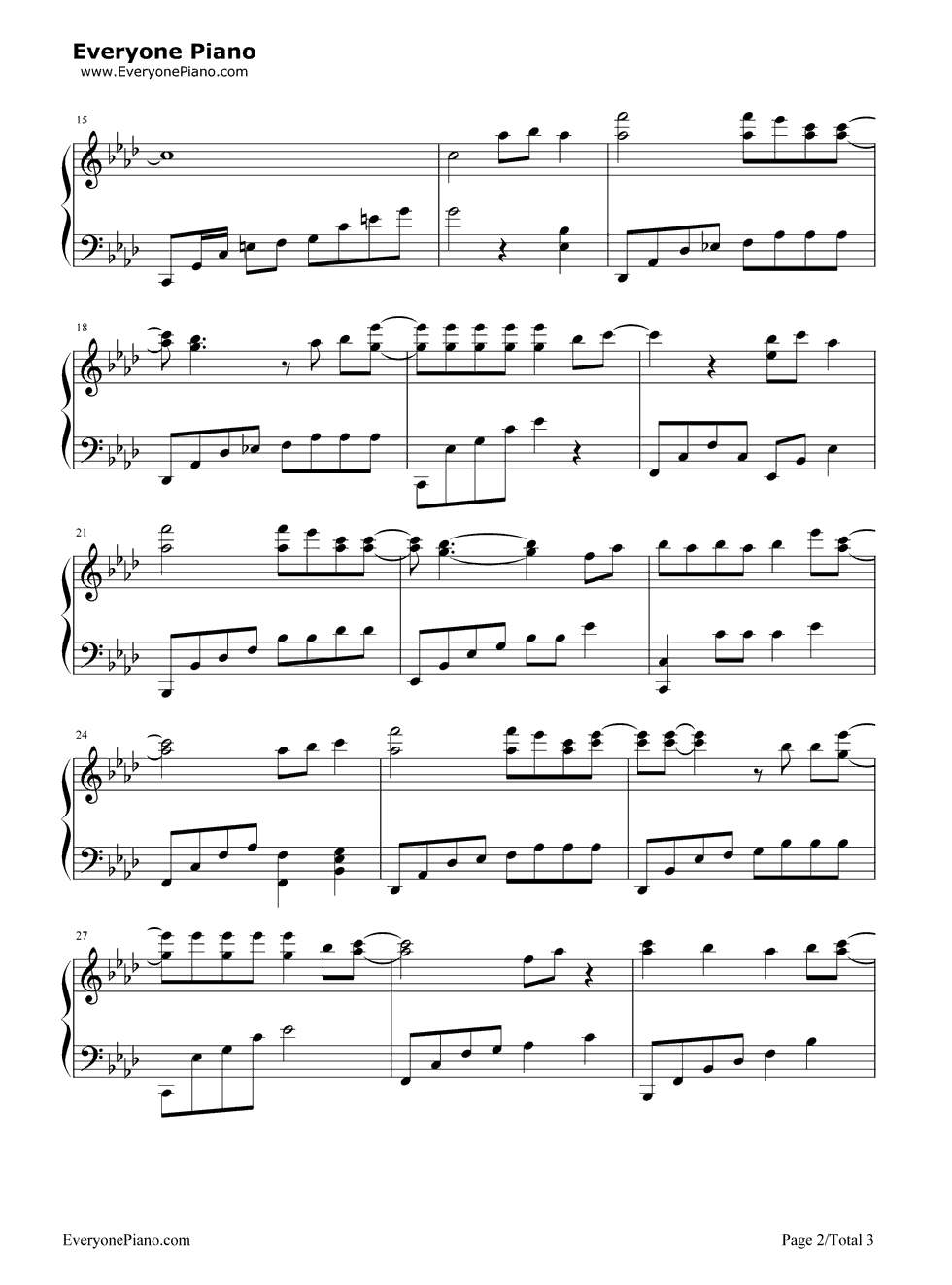 咱们结婚吧简谱_《咱们结婚吧》(齐晨演唱)钢琴谱第2张