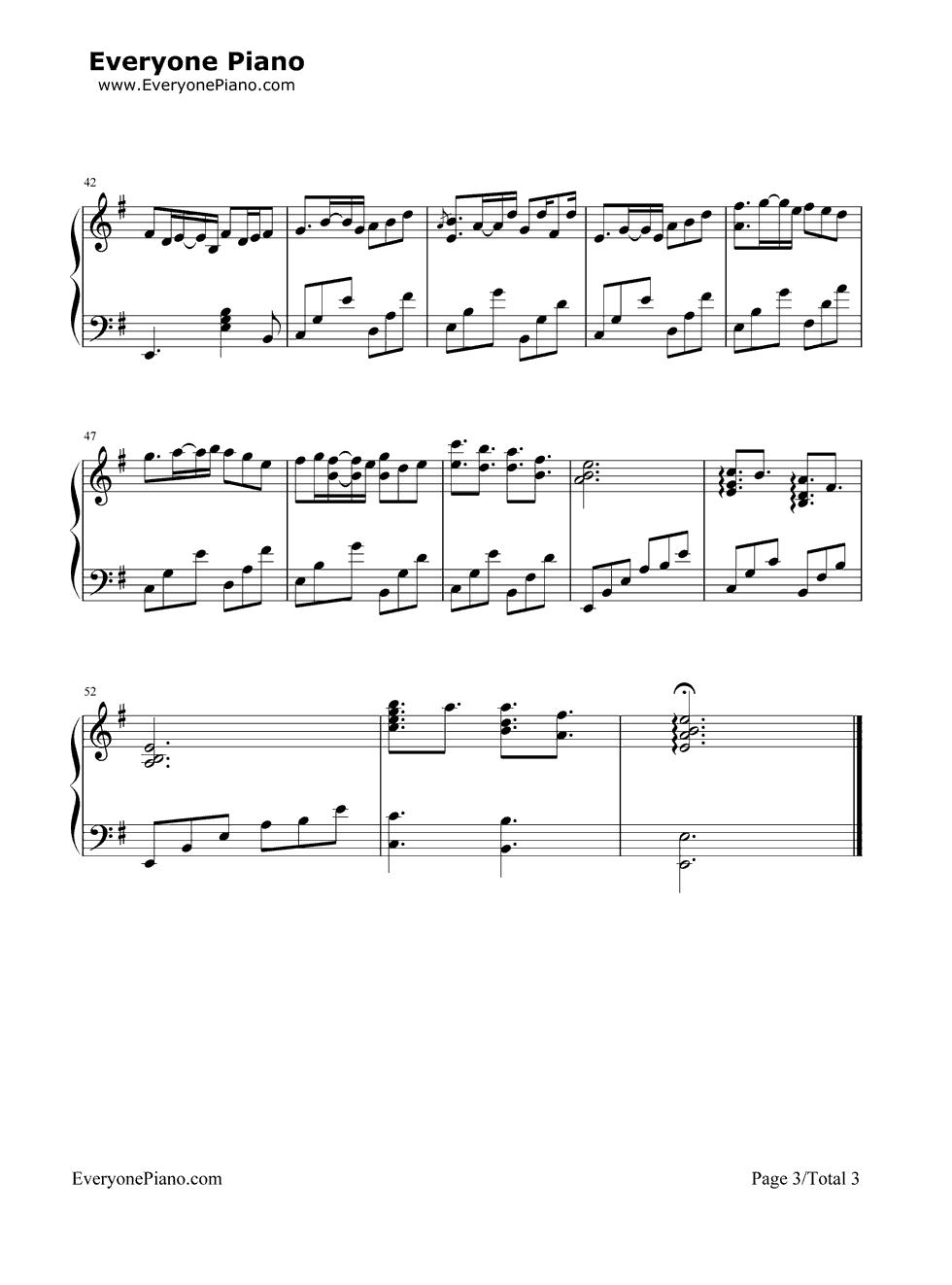 《Romantic Nights》(爱情公寓插曲)钢琴谱第3张