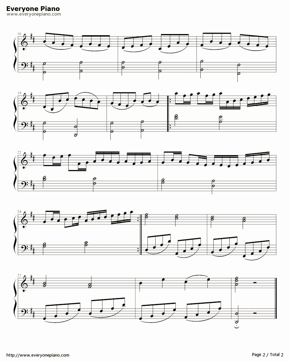 《卡农简单好听版》(EOP教学曲)钢琴谱第2张